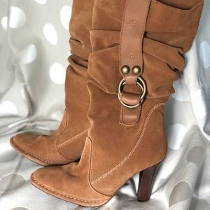 Suede Knee high brown boots